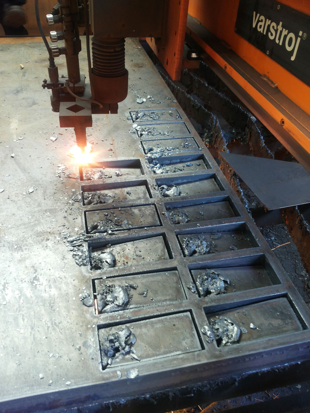 Cutting full steel molds